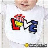 SmileyBaby® Love Personalized Infant Bib - 14584-B