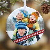 1-Sided Candy Cane Personalized Photo Ornament- Small - 14594-1