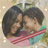 1-Sided Candy Cane Personalized Photo Ornament- Large - 14594-1L