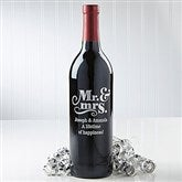 Mr. & Mrs.  Personalized Wine Bottle - 14601D-Mr.&Mrs.