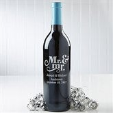 Mr. & Mr.  Personalized Wine Bottle - 14601D-Mr.&Mr.