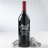 Mrs. & Mrs.  Personalized Wine Bottle - 14601D-Mrs.&Mrs.