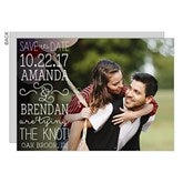 Lucky In Love Personalized Photo Save The Date Cards - 14607-C