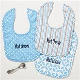 Little Boy Blue Personalized Baby Bib - Set of 3 - 14614-N