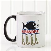 Hooked On You Personalized Coffee Mug 11oz.- Black - 14619-B