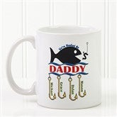 Hooked On You Personalized Coffee Mug 11 oz.- White - 14619-S