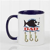 Hooked On You Personalized Coffee Mug- 11oz.- Blue - 14619-BL