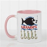 Hooked On You Personalized Coffee Mug- 11oz.- Pink - 14619-P