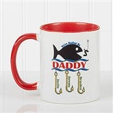 Hooked On You Personalized Coffee Mug- 11oz.- Red - 14619-R