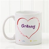 All Our Hearts Personalized Coffee Mug 11 oz.- White - 14620-S