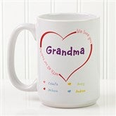 All Our Hearts Personalized Coffee Mug 15 oz.- White - 14620-L