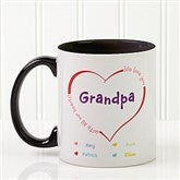 All Our Hearts Personalized Coffee Mug 11oz.- Black - 14620-B