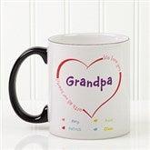 All Our Hearts Personalized Coffee Mug 11oz.- Black - 14620-B