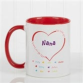 All Our Hearts Personalized Coffee Mug 11oz.- Red - 14620-R