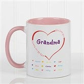 All Our Hearts Personalized Coffee Mug 11oz.- Pink - 14620-P