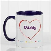 All Our Hearts Personalized Coffee Mug 11oz.- Blue - 14620-BL