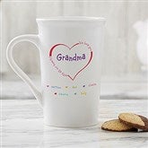 All Our Hearts Personalized Latte  Mug 16 oz.- White - 14620-U