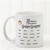 So Many Reasons Personalized Coffee Mug 11 oz.- White - 14621-W