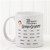 So Many Reasons Personalized Coffee Mug 11 oz.- White - 14621-W
