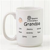 So Many Reasons Personalized Coffee Mug 15 oz.- White - 14621-L
