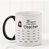 So Many Reasons Personalized Coffee Mug 11oz.- Black - 14621-B