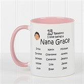 So Many Reasons Personalized Coffee Mug 11oz.- Pink - 14621-P