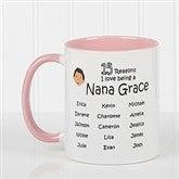 So Many Reasons Personalized Coffee Mug 11oz.- Pink - 14621-P