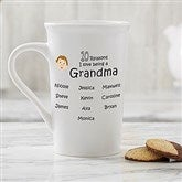 So Many Reasons Personalized Latte Mug 16 oz.- White - 14621-U