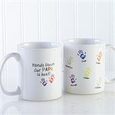 Hands Down Personalized Coffee Mug 11 oz.- White - 14622-W