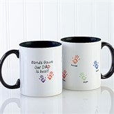 Hands Down Personalized Coffee Mug 11 oz.- Black - 14622-B