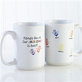 Hands Down Personalized Coffee Mug 15 oz.- White - 14622-L