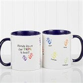 Hands Down Personalized Coffee Mug 11 oz.- Blue - 14622-BL