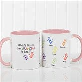 Hands Down Personalized Coffee Mug 11 oz.- Pink - 14622-P
