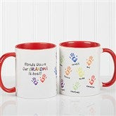 Hands Down Personalized Coffee Mug 11 oz.- Red - 14622-R