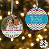 2 Sided Chevron Personalized Photo Ornament - 14633-2