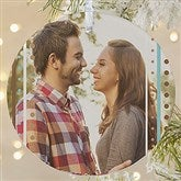 1-Sided Stripe Personalized Photo Ornament- Large - 14637-1L