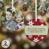 2-Sided Snowflake Personalized Photo Ornament - 14638-2