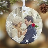 1-Sided Snowflake Personalized Photo Ornament - 14638-1