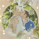 1-Sided Snowflake Personalized Photo Ornament- Large - 14638-1L