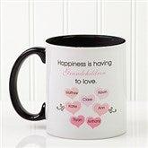 What Is Happiness? Personalized Coffee Mug 11 oz.- Black - 14646-B