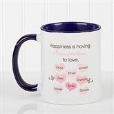 What Is Happiness? Personalized Coffee Mug 11 oz.- Blue - 14646-BL