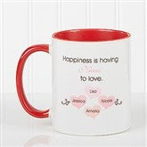 What Is Happiness? Personalized Coffee Mug 11 oz.- Red - 14646-R