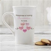 What Is Happiness? Personalized Latte Mug 16 oz.- White - 14646-U