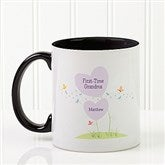 First Time Grandma Personalized Coffee Mug 11 oz.- Black - 14648-B