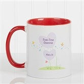 First Time Grandma Personalized Coffee Mug 11 oz.- Red - 14648-R