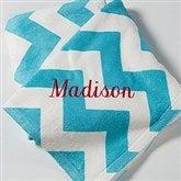 Embroidered Chevron Throw Blanket- Name