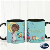 Disney® Doc McStuffins Personalized Black Handle Coffee Mug - 14658
