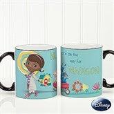 Disney® Doc McStuffins Personalized Black Handle Coffee Mug - 14658