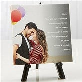 Photo Sentiments For Couples Tabletop Canvas Print- 5½ x 5½ - 14662-5x5