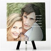 Photo Sentiments For Couples Tabletop Canvas Print- 8